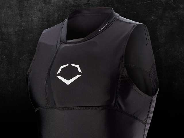 Sleeveless compression shirt with compartment for guard