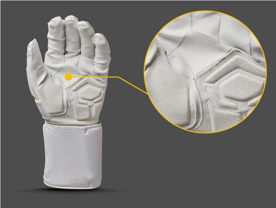 TackTech™ segmented palm on Lineman Gloves