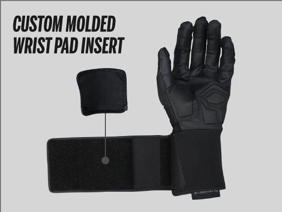 Custom padded wrist strap