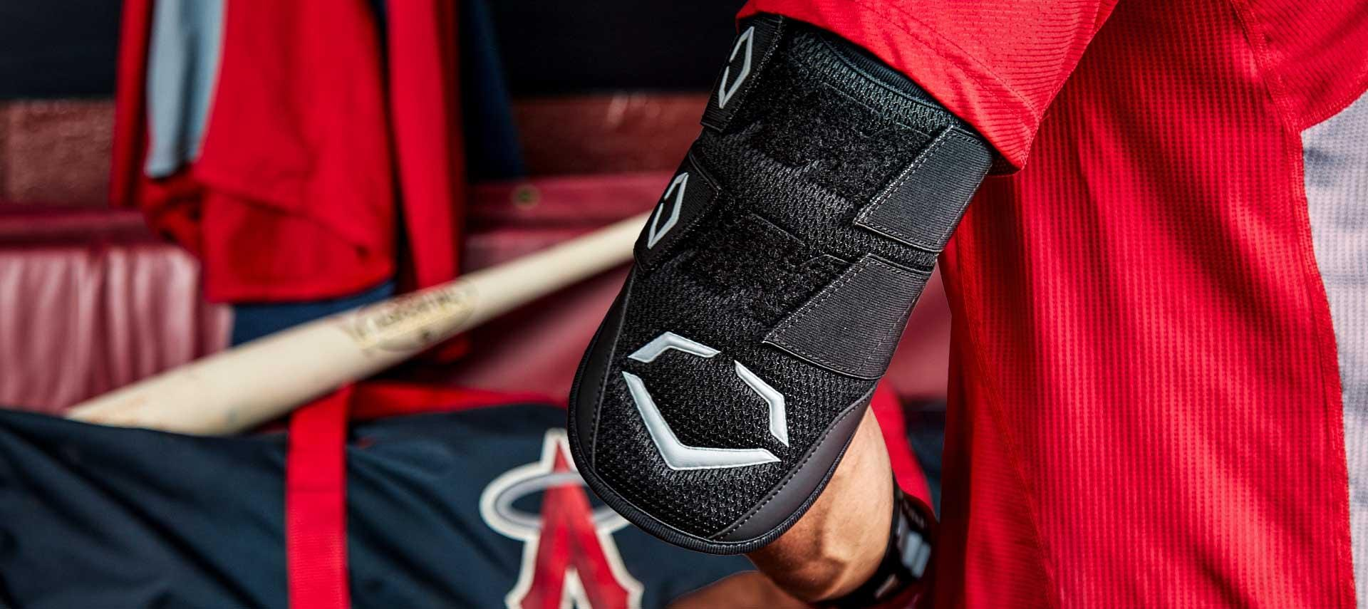 Baseball player wearing Pro-SRZ Elbow Guard
