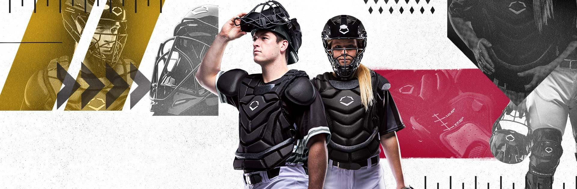 Evoshield Custom Fit Catcher's Gear System for Baseball and Fastpitch